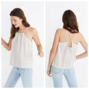Madewell Plaid Halter Top Sz XS